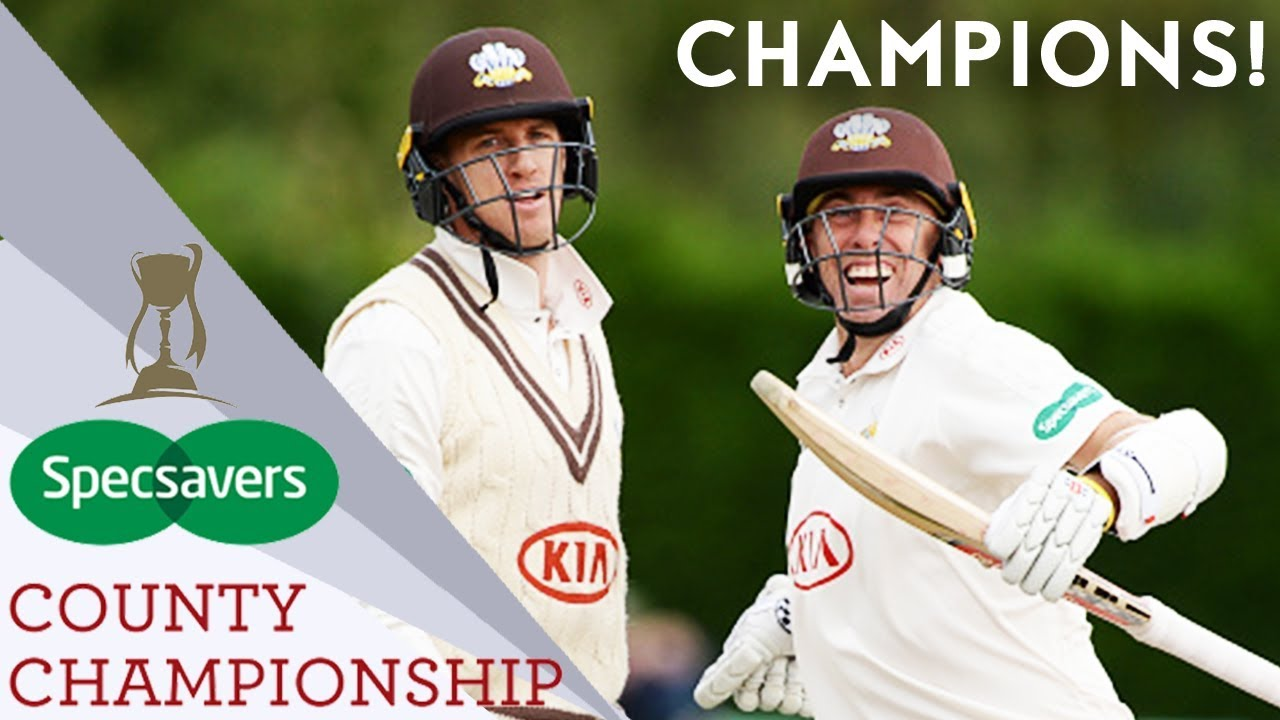 Surrey Win Title For First Time In 16 Years!   County Championship 2018 - Highlights