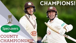 Surrey Win Title For First Time In 16 Years! | County Championship 2018 - Highlights
