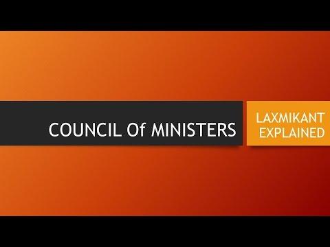 UPSC 2017 (India Polity) Council of Ministers:  Laxmikant Explained - Hindi