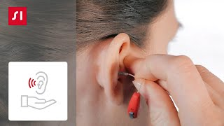 How to remove a Signia RIC (receiver-in-canal) hearing aid