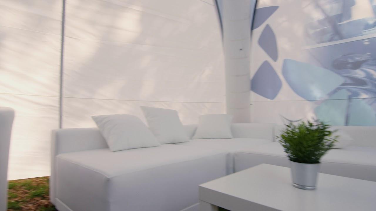 X Gloo Eventzelt mit White Lounge