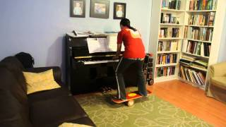 J.S. Bach The Well-Tempered Clavier, Volume 1 - Fuga 17 - On a Bongo Board