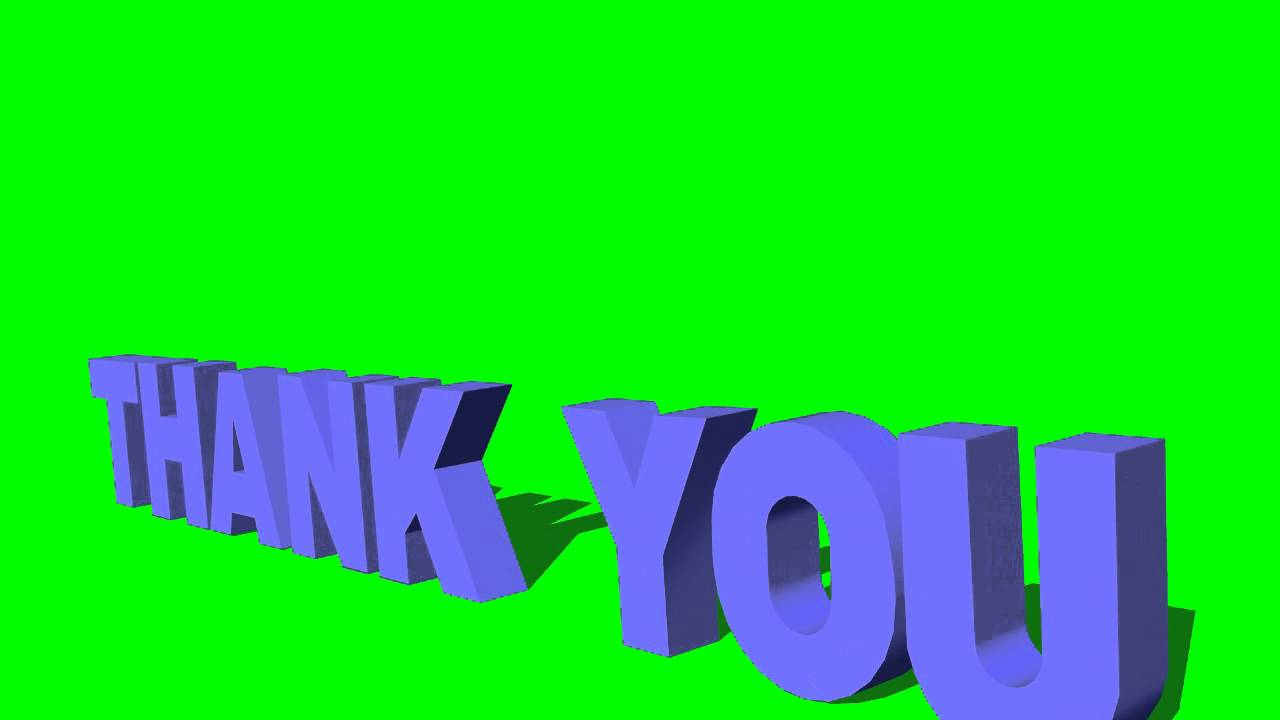 Thank You3d Text With Camera Movement Green Screen Effects Youtube