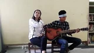 Duet lagu sedih cover our story kebahagiaanmu surga untukku(baru belajar )