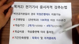 전기산업기사 응시자격 / 전기기사 응시자격 갖추는법 (…