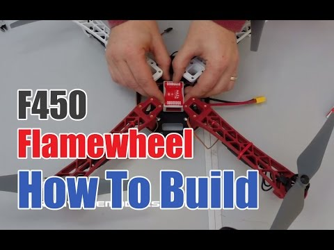 How to build the DJI F450 Flamewheel Drone with Naza Flight Controller and DT7 Radio