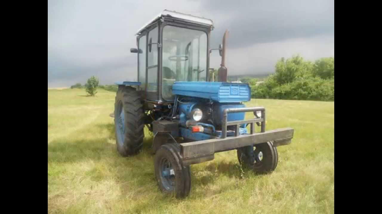 Трактор Т 28. Испытание самодельного плуга с гребенкой - YouTube