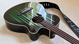 Fretless Electro-Acoustic Bass Conversion & Custom Paint Job - Photo Diary