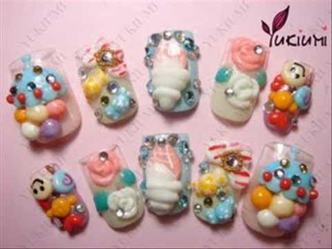 kawaii nail art oh so glamorous ♡  youtube
