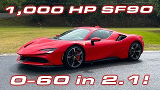 FIRST EVER Ferrari SF90 Stradale Performance Testing * 1/4 Mile, 0-60 MPH