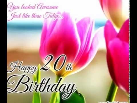 20th Birthday E Cards