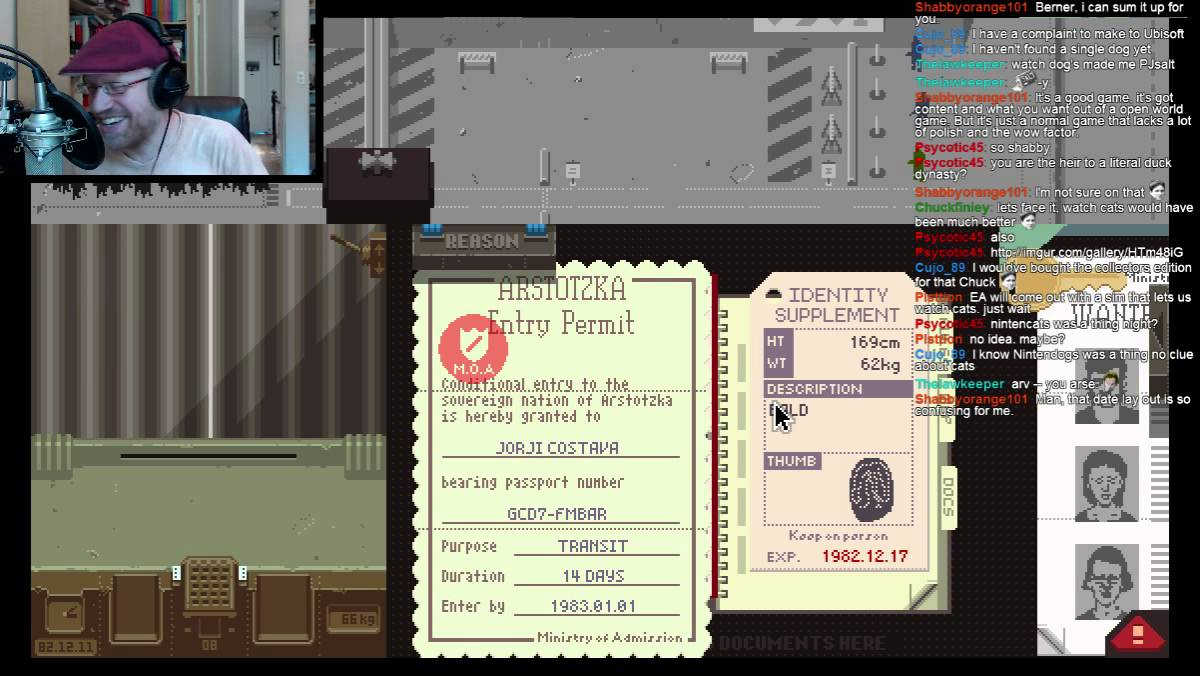 Glory to Arstotzka--Arv streams Papers, Please! Also, please support the  Speculate Kickstart - 1 / 3