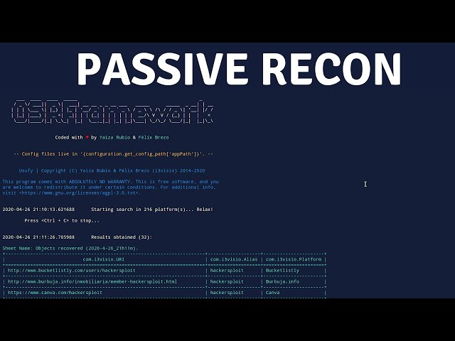 Passive Recon With OSRFramework