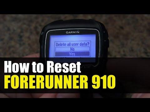 Garmin Forerunner 910XT - How to Reset - When it is Frozen