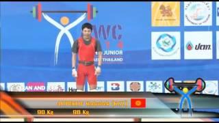Выступление кыргызстанца К.Айтпеков на чемпионате Азии по тяжелой атлетике