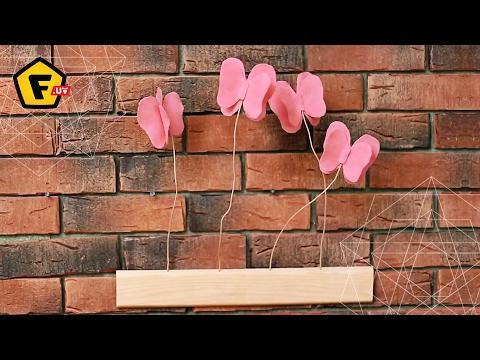 БАБОЧКИ ИЗ ФЕТРА СВОИМИ РУКАМИ ≡ как сделать бабочек? смотреть в хорошем качестве