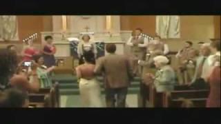 JK wedding entrance dancing down the aisle Forever
