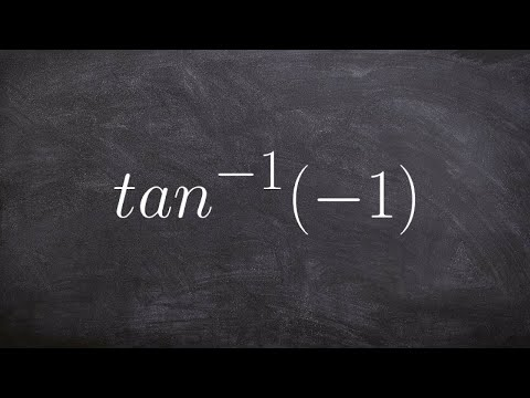 Evaluate the Inverse Tan of Negative One