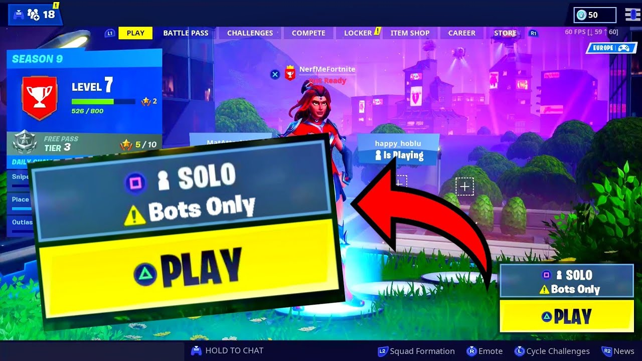 How To Get Bots Lobby In Fortnite Glitch Easy Win Fortnite