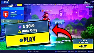 How to get BOTS LOBBY in fortnite glitch (Easy win) Fortnite glitches season 9 PS4