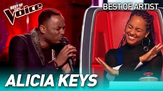 Fantastic ALICIA KEYS covers in The Voice