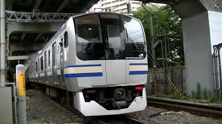 JRE217系Y-51編成+Y-136編成普通千葉行き 西大井駅入線