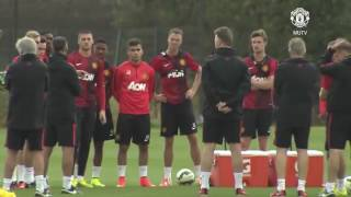manchester united isınma topla