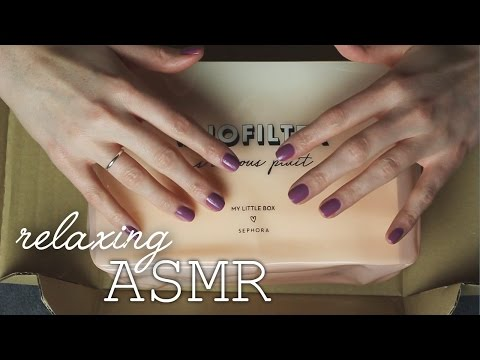 ASMR My Little Box Unboxing (🎧 soft spoken, light tapping, crinkling, packaging sounds)