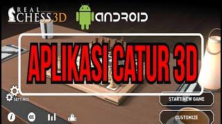 TAMPILAN MENAWAN APLIKASI GAME CATUR. REAL CHESS 3D screenshot 1