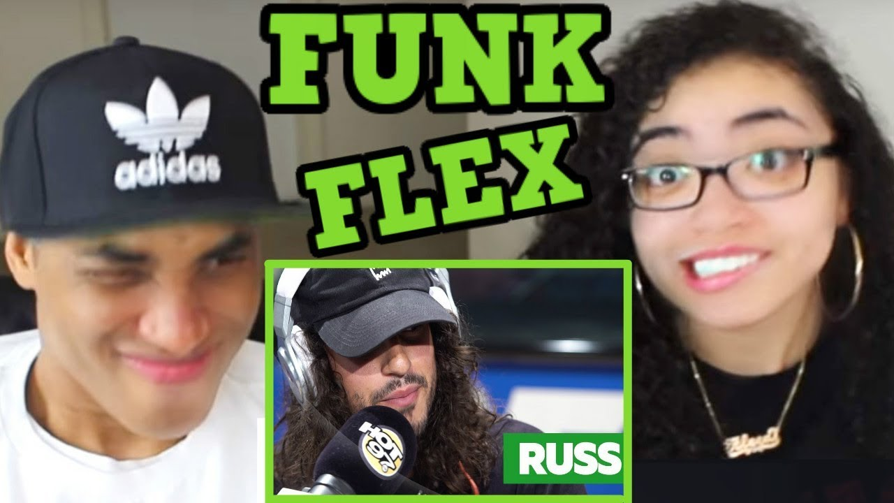 RUSS FREESTYLES ON FUNK FLEX REACTION   #FREESTYLE105   MY DAD REACTS