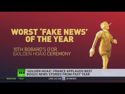 'Bobards d'Or': France applauds best bogus news stories from past year