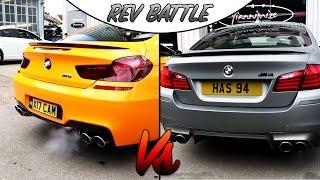 Loud BMW M5 Vs M6 Rev Battle!
