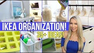 35+ IKEA ORGANIZATION IDEAS! Affordable Organization!