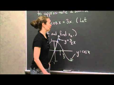 Using Newton's Method | MIT 18.01SC Single Variable Calculus, Fall 2010