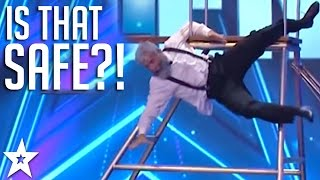 Is That Safe?! Comedy TRAMPOLINER Has Judges in Stitches! | Got Talent Global