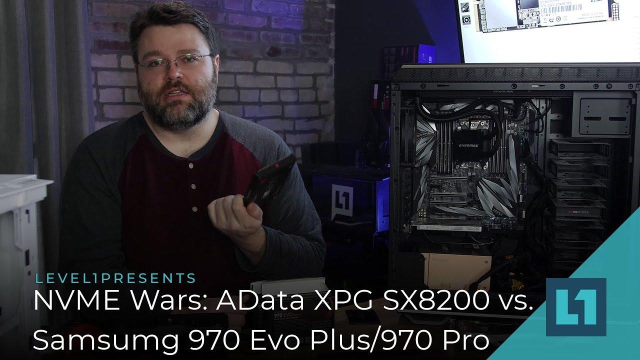 NVME Wars: Adata XPG SX8200 vs Samsung 970 Pro/EVO Plus