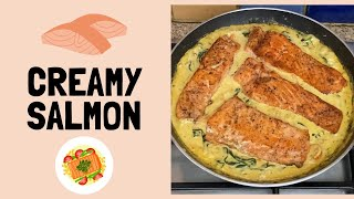 THE BEST Creamy Gaŗlic Butter Salmon In 20 Minutes I Easy & Healthy Recipe I Harari Cooks