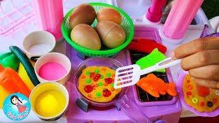 ละครสั้น เจ้เปิดร้านข้าวไข่เจียวทรงเครื่อง ไข่เจียวไข่มุก Baby Doll Play Doh Food Toys Kitchen Toys