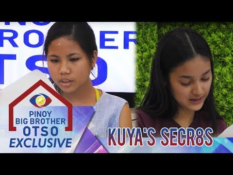 Kuya's Secr8s: Sharing Letters   Pinoy Big Brother OTSO Exclusive