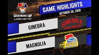 PBA Governors' Cup 2018 Highlights: Ginebra vs Magnolia Oct 28, 2018