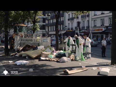 PARIS : RAFLE DE MIGRANTS AU MÉTRO JAURÈS