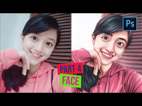 [ Photoshop Tutorial ] How to Cartoonize a Picture in Photoshop - (PART 4 FACE) thumbnail