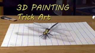 Dragonfly painted in 3D/ Speed Drawing timelapse