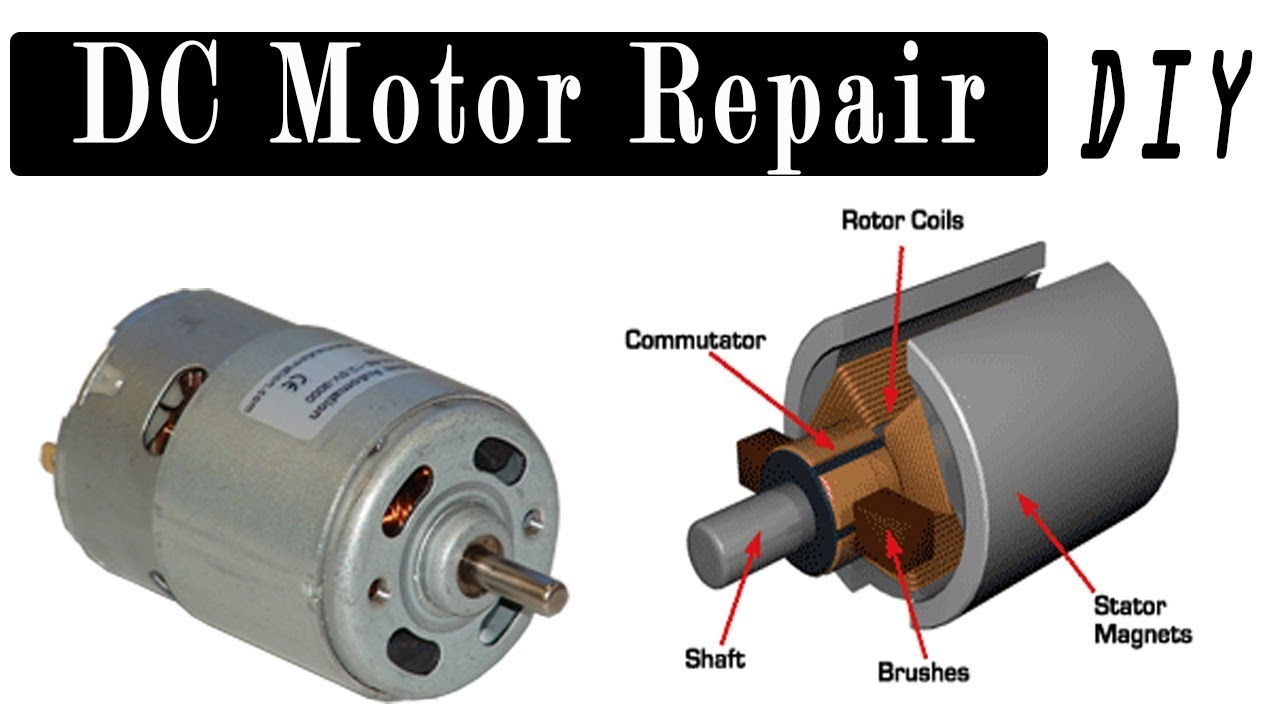 DC Motor Repair | How to Repair DC Motor? 6V, 9V, 12V, 24 Volt