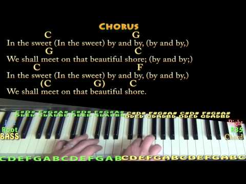 Sweet By and By - Piano Cover Lesson in C with Chords/Lyrics