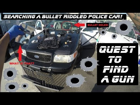 Searching A Bullet Riddled Police Car! Ford Crown Victoria Cop Auto Explore