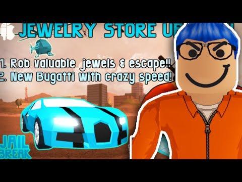 BRAND NEW BUGATTI AND JEWELRY STORE UPDATE!! - Roblox Jailbreak