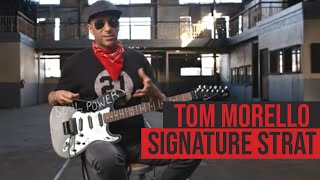 """Tom morello sits down with guitar world to talk about his new signature """"soul power"""" stratocaster, based on the primary he used stage and in st..."""
