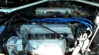 1989 Toyota 3S-FE  Start and runing