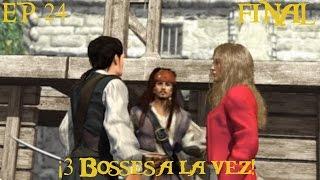 Piratas del Caribe La leyenda de Jack Sparrow [PS2] EP. 24 FINAL - ¡3 Bosses a la vez!